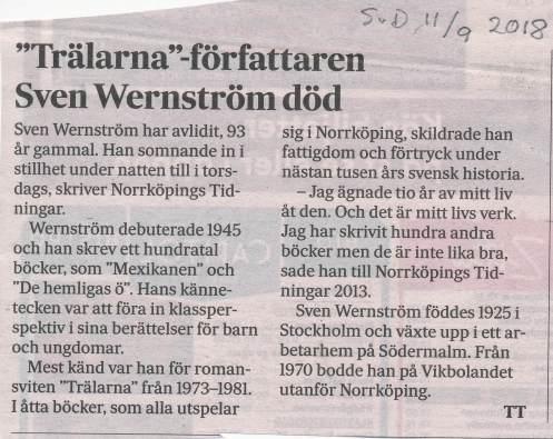 Sven Wernström död